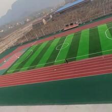 全國承接塑膠跑道人造草坪籃球場PVC地板工程項目圖片