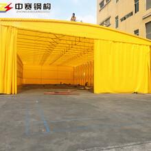 中赛伸缩折叠遮阳篷,漯河推拉电动伸缩帐蓬雨棚安全可靠图片