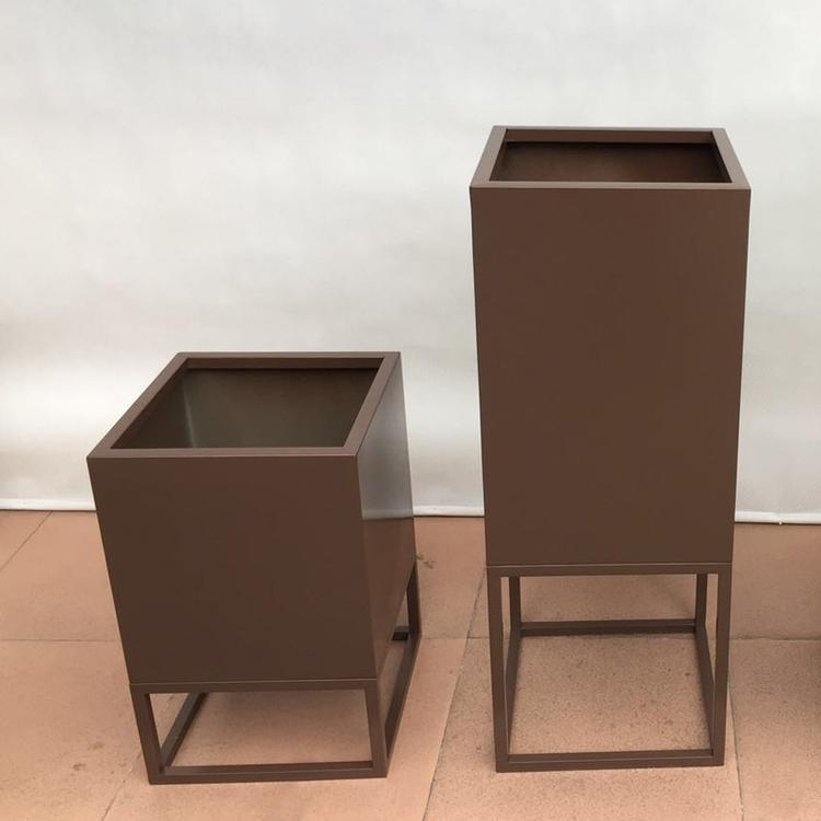厂家定制不锈钢环保花盆花箱酒店商场落地式花盆