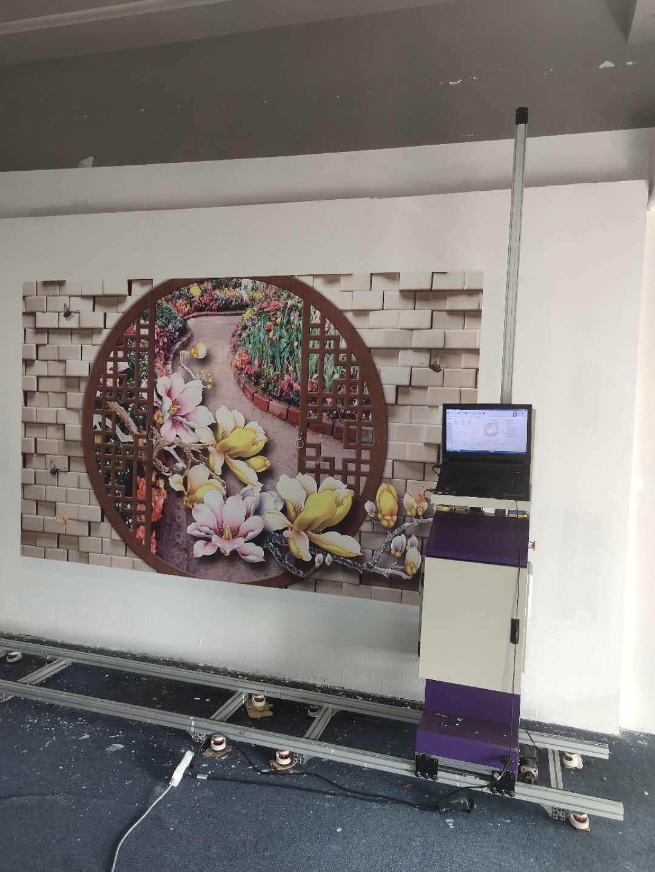 墙体彩绘机3D立体户外墙面喷绘机背景墙智能5D广告打印机设备大型