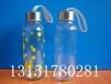 星巴克玻璃水杯广告杯促销杯礼品杯学生杯带提绳玻璃水瓶
