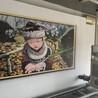 创业致富大型自动墙体彩绘机器厂家直销5D山水图壁画打印厂家直销