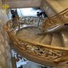 浙江纯铜雕花镂空楼梯护栏雕刻铜艺楼梯厂家