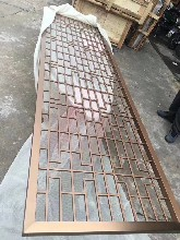 金屬不銹鋼鋁銅屏風隔斷玄關景觀連廊