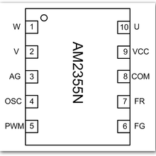 三相無感風扇電機驅動IC-AM2355N圖片