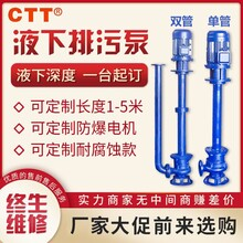 YW型液下无堵塞排污泵工程排污单双管液下污水泵380V厂家直销图片