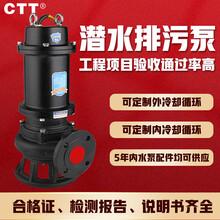 QW无堵塞移动式潜水泵污水泵污水提升泵价格wq排污泵排洪泵图片