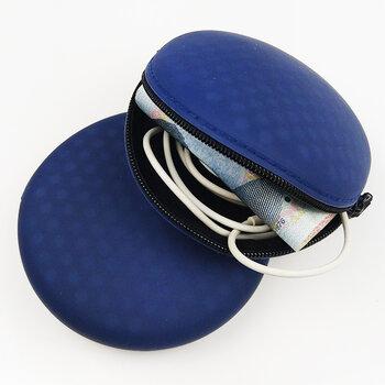硅膠圓形零錢包,便攜式耳機包