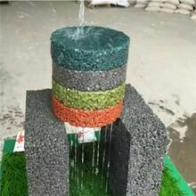云南紅河彩色透水地坪透水混泥土材料圖片