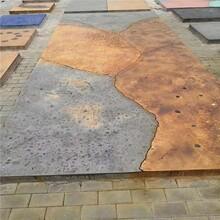 江苏扬州砾石聚合物仿石材料厂家砾石地坪铺装工艺图片