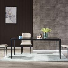 厂家意式北欧轻奢家用小户型长方形岩板餐桌椅组合五金铁架图片