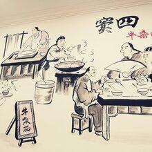 天津富國手繪文化墻設計手繪文化墻制作價格低發貨快品質高圖片