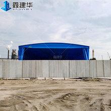 青岛市附近的即墨销售电动伸缩雨蓬活动仓库雨棚图片