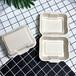 廣州麥稈餐具環保餐具打包盒廠家一次性蛋糕餐具秸稈餐盒