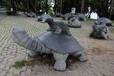 景观雕塑、石雕乌龟、长寿龟、母子龟、石雕玄武、寺庙石雕动物
