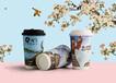 500ml雙層中空奶茶紙杯熱飲咖啡杯