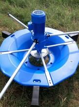 1.5kw三相380V魚塘蝦塘雙速推浪曝氣式增氧機圖片