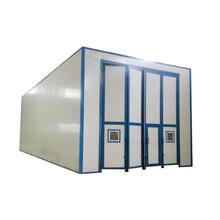 中山艾航设计定制环保型经济型砂料易回收喷砂房图片