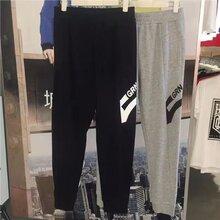 国内一二线品牌运动男装针织裤挑款低价批发图片