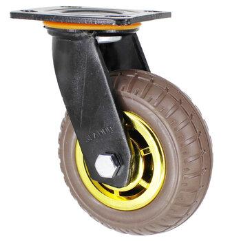 厂家3寸灰色橡胶万向脚轮静音耐磨推车4\5寸万向轮可定制尺寸