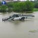 清理水面水草垃圾打撈船水花生水葫蘆收割機