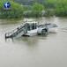 小型水花生清理機械船水下植物打撈船水草收割割草船