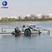 福建大型河道水面清理雜草除草機械水生植物收割割草船