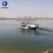 廣東大型河道水面雜草清理設備水生植物收割割草船除草設備