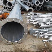益明供應35KV電力鋼管桿價格熱鍍鋅鋼桿定制圖片