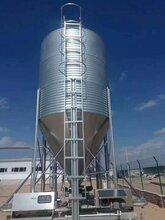 养殖场镀锌板料塔自动料线图片