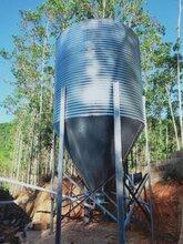 养殖设备镀锌板料塔自动料线不锈钢食槽图片