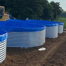 河源镀锌板高密度帆布养殖水池