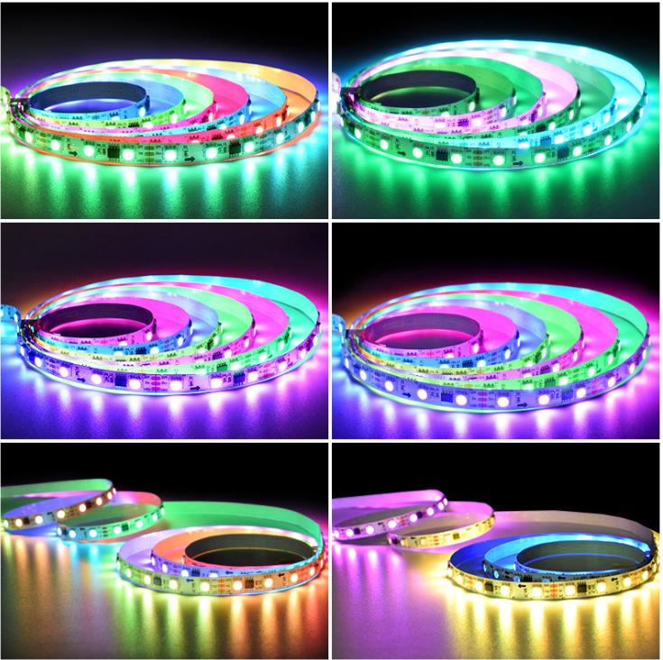 12V24V低压幻彩灯带灯条RGB5050灯带七彩霓虹灯户外防水亮化照明