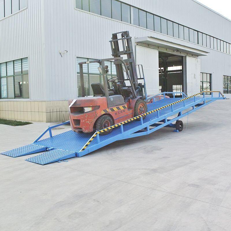 移动登车桥叉车集装箱卸货平台