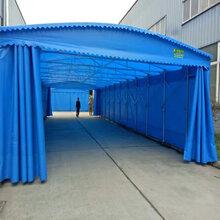 中赞生产推拉棚仓库帐篷物流棚大排档帐篷图片