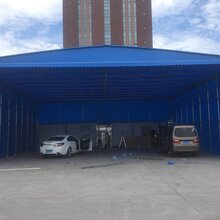 中赞生产工厂雨棚推拉棚物流棚大排档帐篷遮雨棚图片
