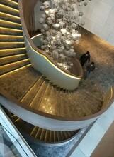 银川展厅钢构异形楼梯制作服务图片