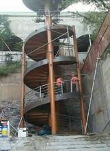 银川展厅中柱旋转楼梯设计团队图片