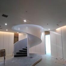 江西商场中柱旋转楼梯制作公司图片