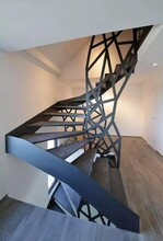 重庆医院钢构住宅楼梯安装服务图片