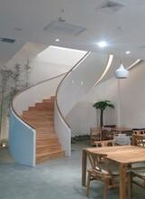 西藏酒店箱体弧形楼梯设计价格图片
