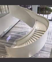 西安展厅箱体弧形楼梯制作服务图片