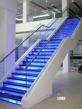 重庆别墅直双梁玻璃楼梯制作服务图片