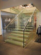 北京展厅直双梁玻璃楼梯制作价格图片