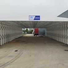 移动推拉雨棚仓库活动帐篷篮球棚车库停车棚图片