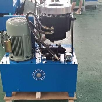 液壓鋼管縮管機全自動油管膠管扣壓機建筑工地腳手架大棚管縮口機