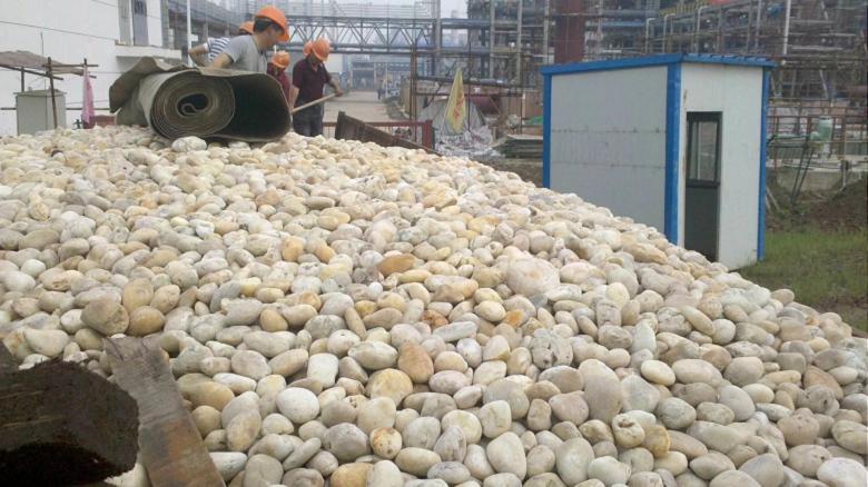 宁德人工水系铺设鹅卵石/鹅卵石滤料产地