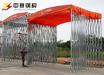 武汉定制伸缩式遮雨棚推拉活动棚移动停车棚大型仓库帐篷固定厂棚