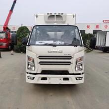 江铃顺达双排座国六3.2米冷藏车生鲜运输车图片
