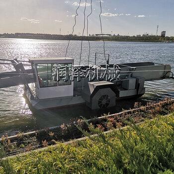 新型操作简单的水上收割机供应河道保洁船水葫芦清理设备